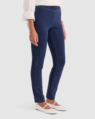 Sportscraft Felicity Denim Pull On Pants - Jeans (blue)