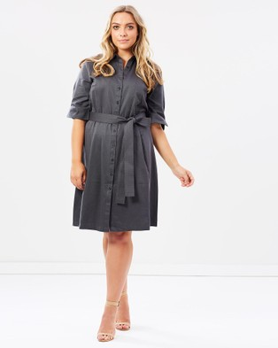 Alison Dominy – Cleo Shirt Dress Black/Silver