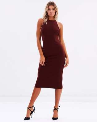 Bec & Bridge – Love Ruler Dress – Bodycon Dresses (Deep Rouge)
