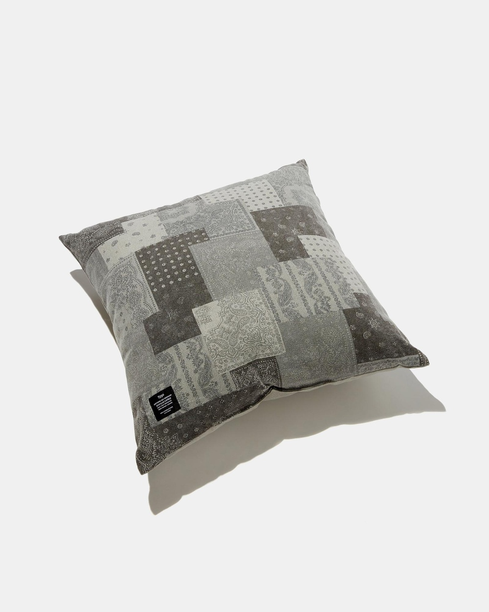 Typo Square Cushion Home Patchwork Bandana