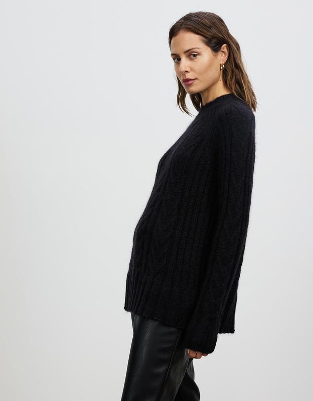 Women Aura Mohair Cable Knit