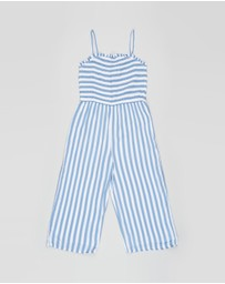 Abercrombie & Fitch - Strappy Smocked Jumpsuit - Teens