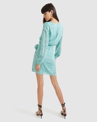 SABA Solisce Silk Mini Dress - Printed Dresses (multi)
