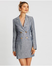 SANTINA-NICOLE - Sole Linen Blazer Dress