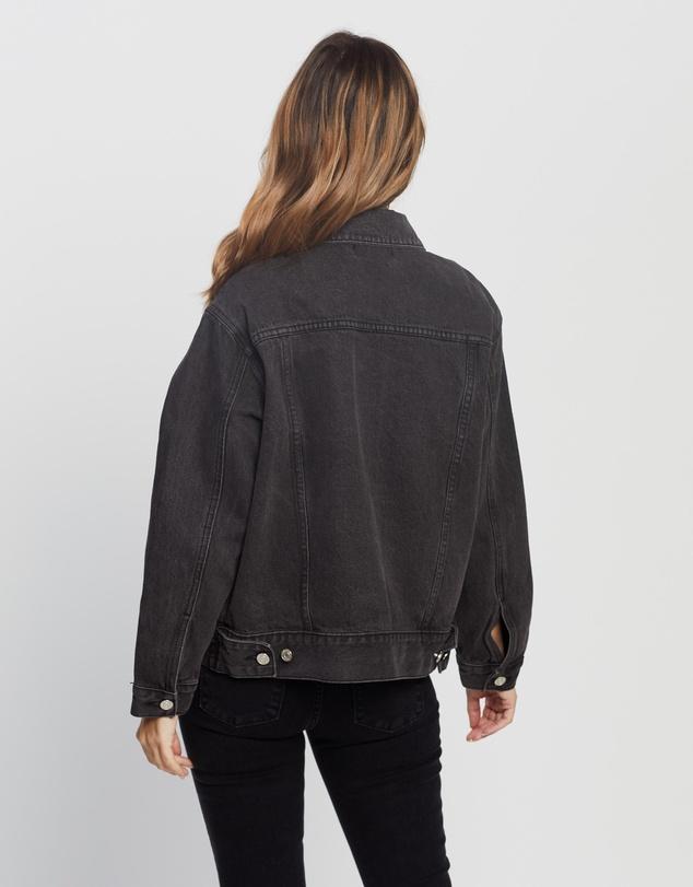 Women Petite Oversized Denim Jacket