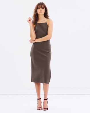 Bec & Bridge – Boudoir Tie Dress Olive
