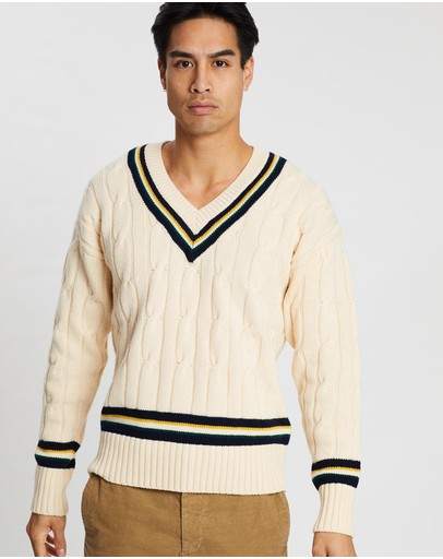 Kent and Curwen - Chunky Knit V-Neck Jumper