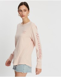 Abercrombie & Fitch - Long Sleeve Logo Tee