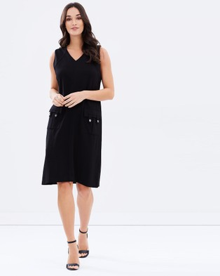Privilege – Lightweight Ponte Dress – Dresses (Black)