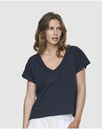 Cloth & Co. - Organic Cotton Deep V Tee