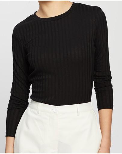 Atmos&here Eloise Long Sleeve Tee Black