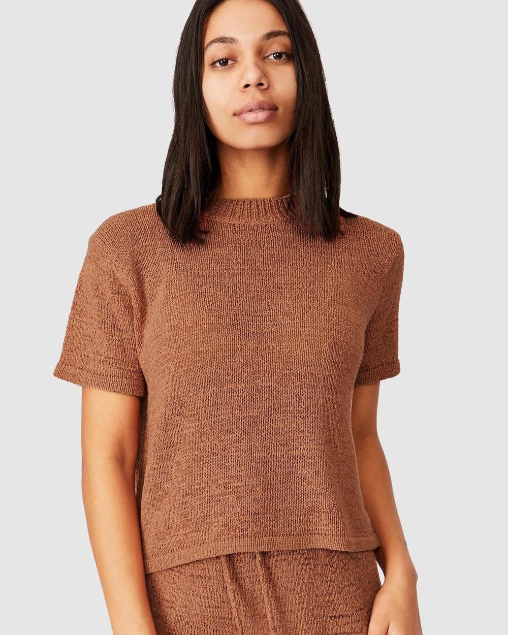 Cotton On Body - Summer Lounge T Shirt - Sleepwear (Terracotta) Summer Lounge T-Shirt