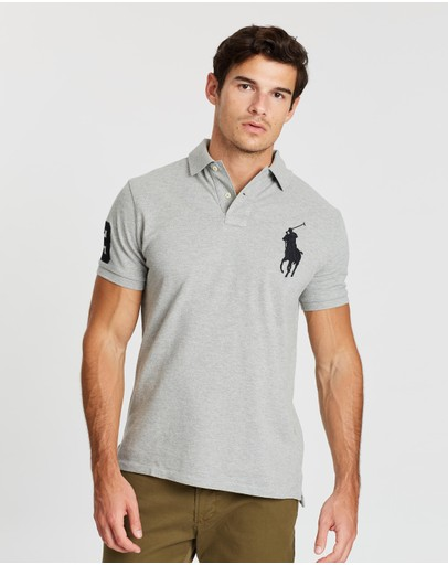 Tommy Hilfiger Men/'s Short Sleeve Collared Custom Fit Mesh Polo Shirt