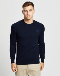 Superdry - Orange Label Cotton Crew Jumper