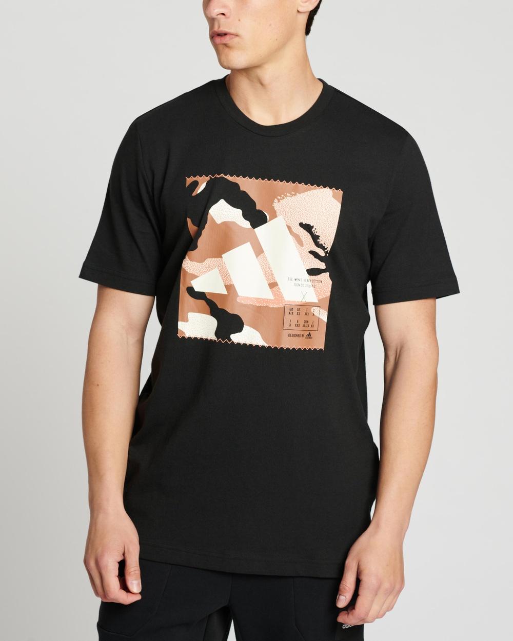 adidas Performance Athletics Graphic Tee Short Sleeve T-Shirts Black