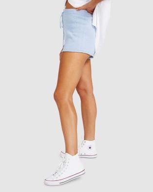 Subtitled Rex Knit Shorts - Shorts (BLUE)