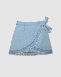 Gelati Jeans Kids - Maisie Chambray Wrap Skirt