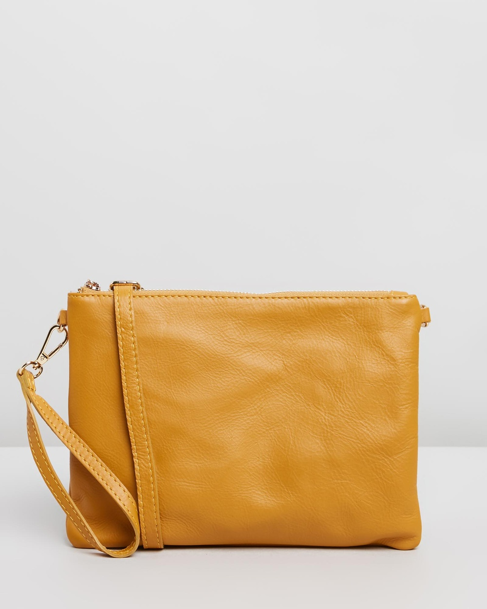 BEE Tully Clutches Mustard