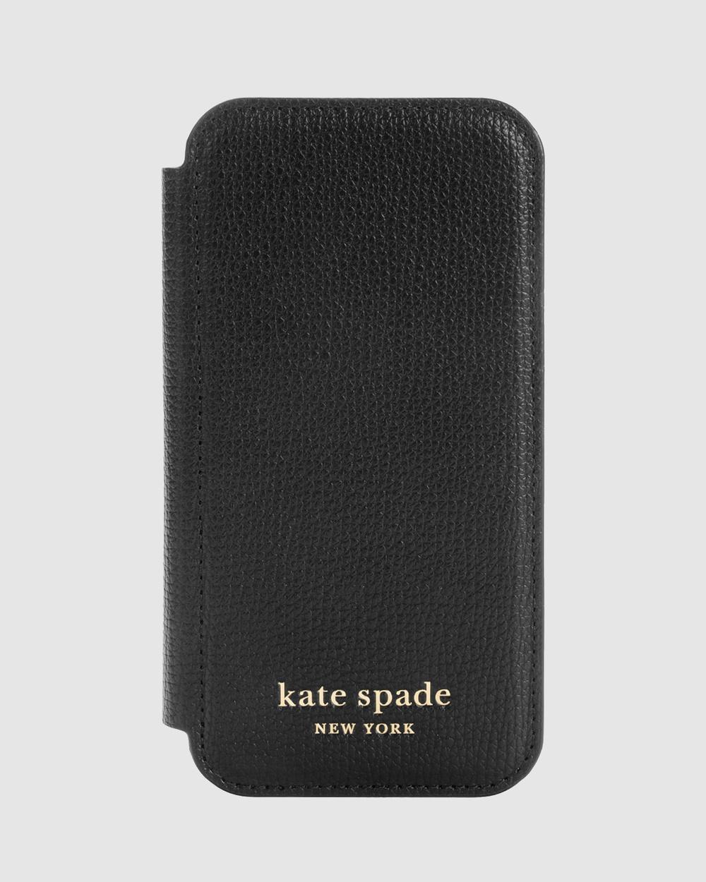 Kate Spade iPhone 12 Mini Folio Case Tech Accessories Black Australia
