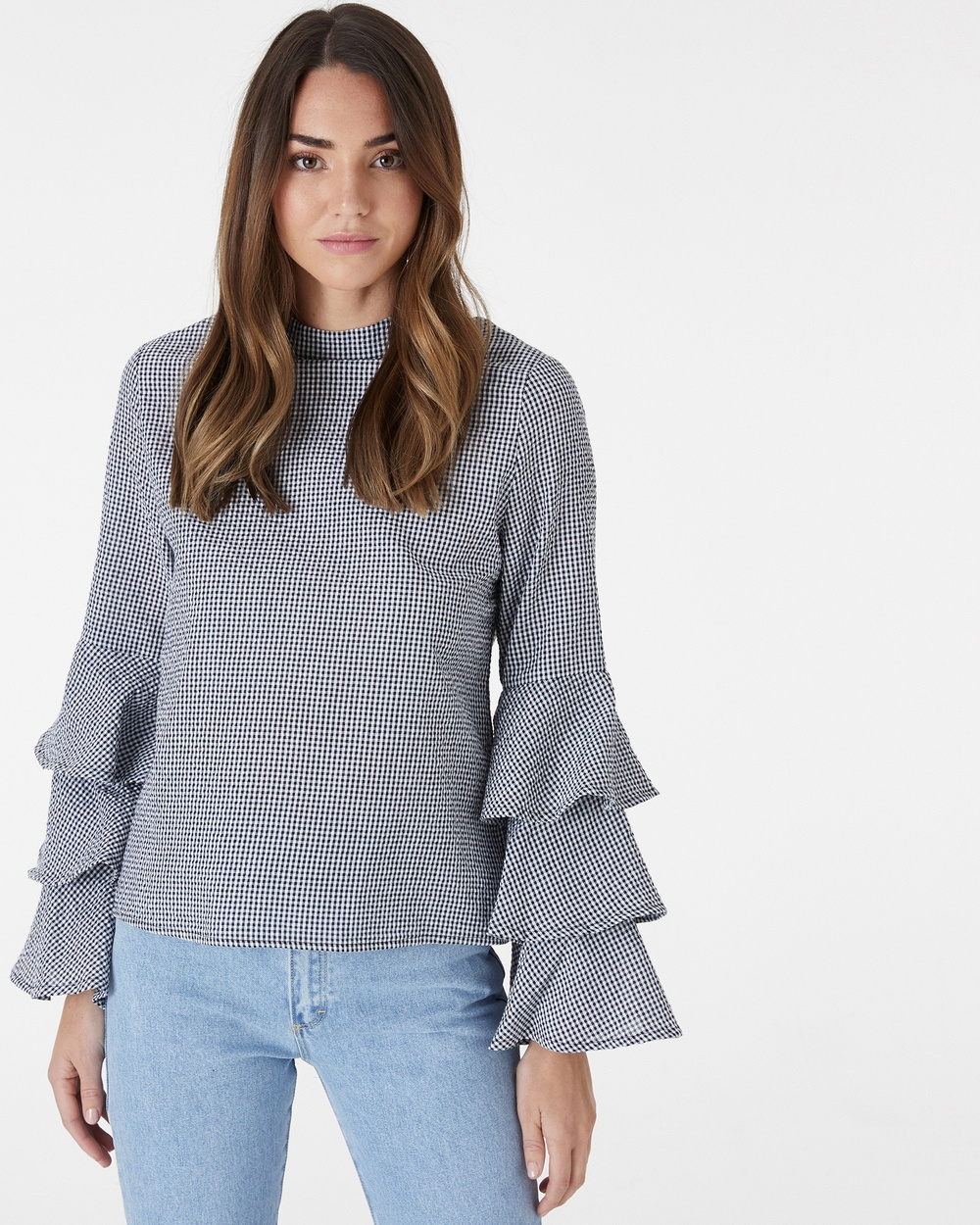 Everly Collective It Was Love Top Tops Gingham It Was Love Top