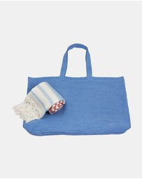 Turkish Murkish - St Tropez Turkish Towel + Tote Gift Set