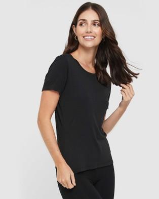 Bamboo Body Classic Crew Neck Short Sleeve T-Shirts Black
