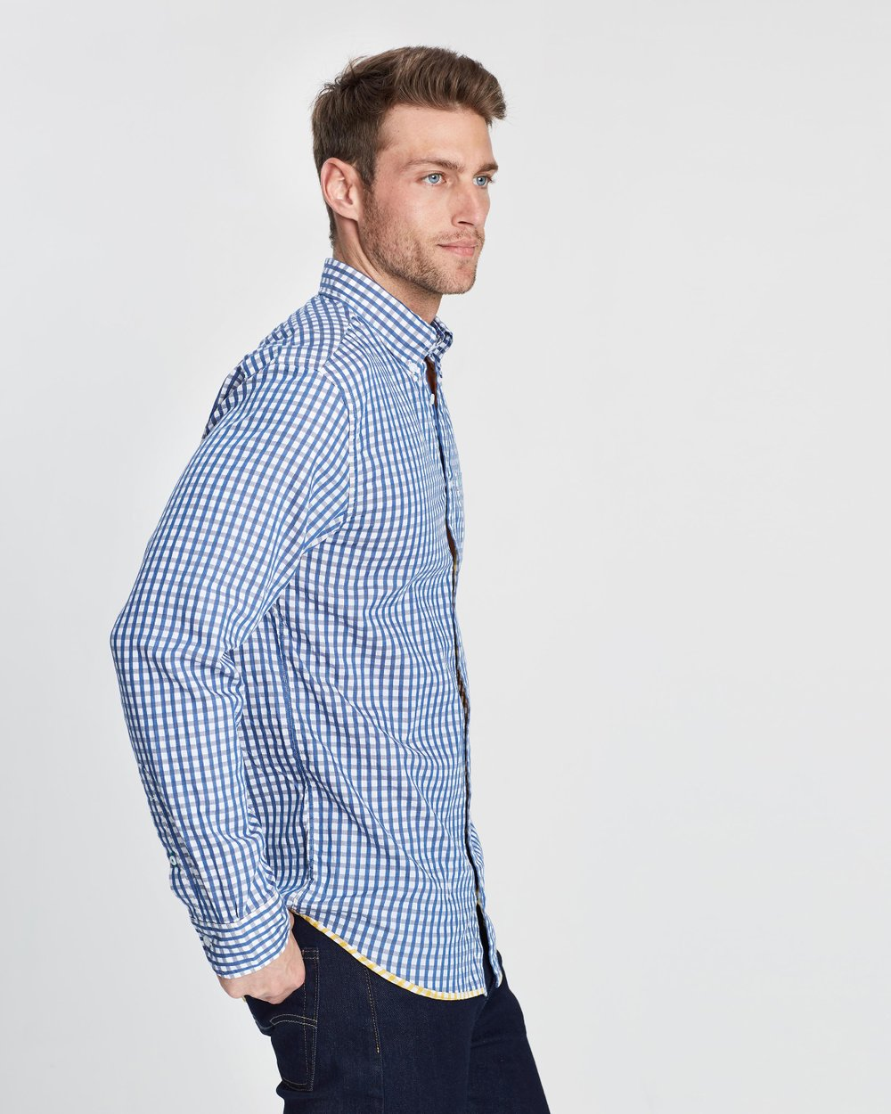 84d9db66 Two-Tone Dobby Check Shirt by Tommy Hilfiger Online | THE ICONIC | Australia