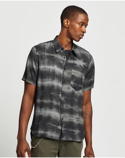 Neuw Waits Ss Shirt Black Tie Dye
