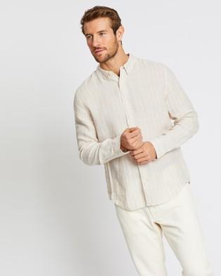 Jag Stripe Linen Shirt - Shirts & Polos (neutrals)