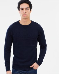 Structured Cotton Pullover Jumper
