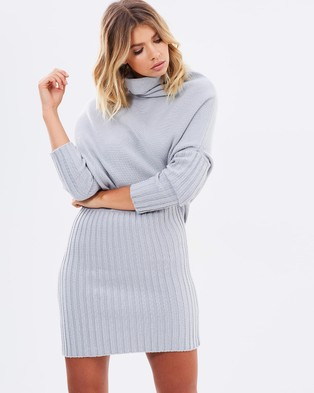 Maurie & Eve – All Right Now Mini Dress – Dresses (Dove Grey)