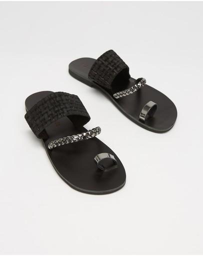 Ammos Airlea Sandals Black