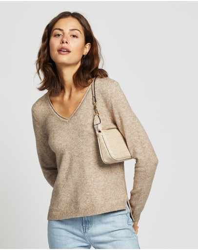 ONLY - Lesly New V-Neck Pullover Knit