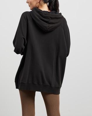 ENA PELLY - Python Print Hoodie Hoodies (Washed Black)