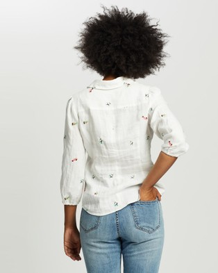 Marcs Pina Colada Embroidered Shirt - Tops (Ivory Multi)