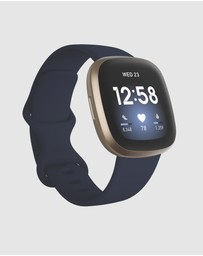 Fitbit - Fitbit Versa 3 Midnight Gold