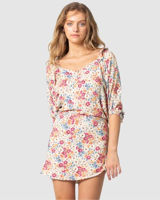 Three of Something Light Meadow Floral Witchery Dress Printed Dresses Light Floral