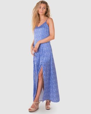 RH Swimwear Splits Maxi Dress - Dresses (Dense floral - blue)