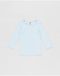 Cotton On Baby - Aiden Long Sleeve Placket Top - Babies