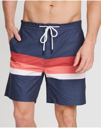 Staple Superior - Multi Stripe Swim Shorts