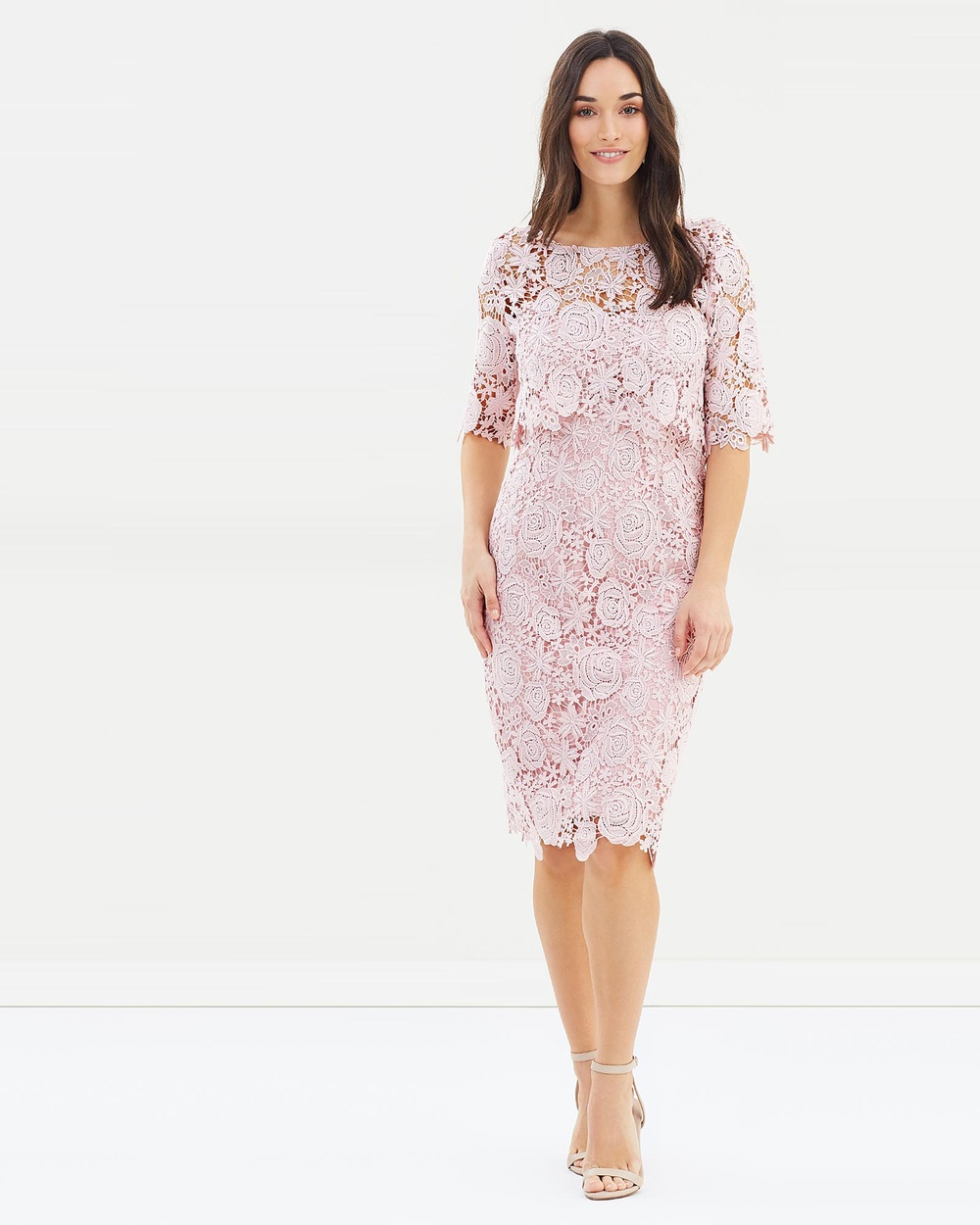 Montique Nevenka Lace Dress Dresses Vintage Pink Nevenka Lace Dress