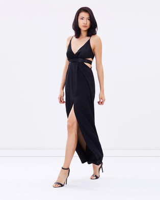 DELPHINE – All Wrapped Up Maxi – Dresses (Black)