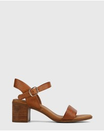 Wittner - Kathleen Leather Open Toe Block Heel Sandals