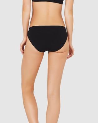 Boody Organic Bamboo Eco Wear 7 Pack Classic Bikini - Hipster Briefs (Black)