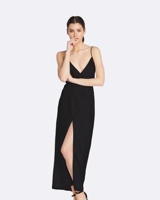GINIA RTW – Bella Wrap Dress – Bridesmaid Dresses Black