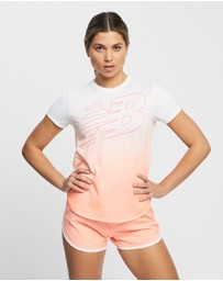 New Balance - Printed Accelerate Short Sleeve Tee