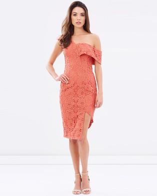 Ministry of Style – Verona Midi Lace Dress Terracotta