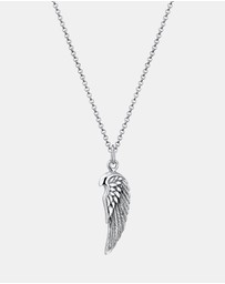 Kuzzoi - Necklace Wing Oxide Rock Cool 925 Silver
