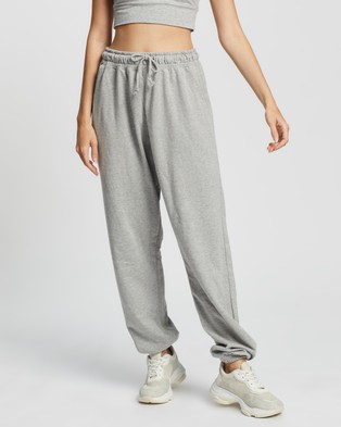 Missguided 90s Oversized Joggers - Sweatpants (Grey Marle)