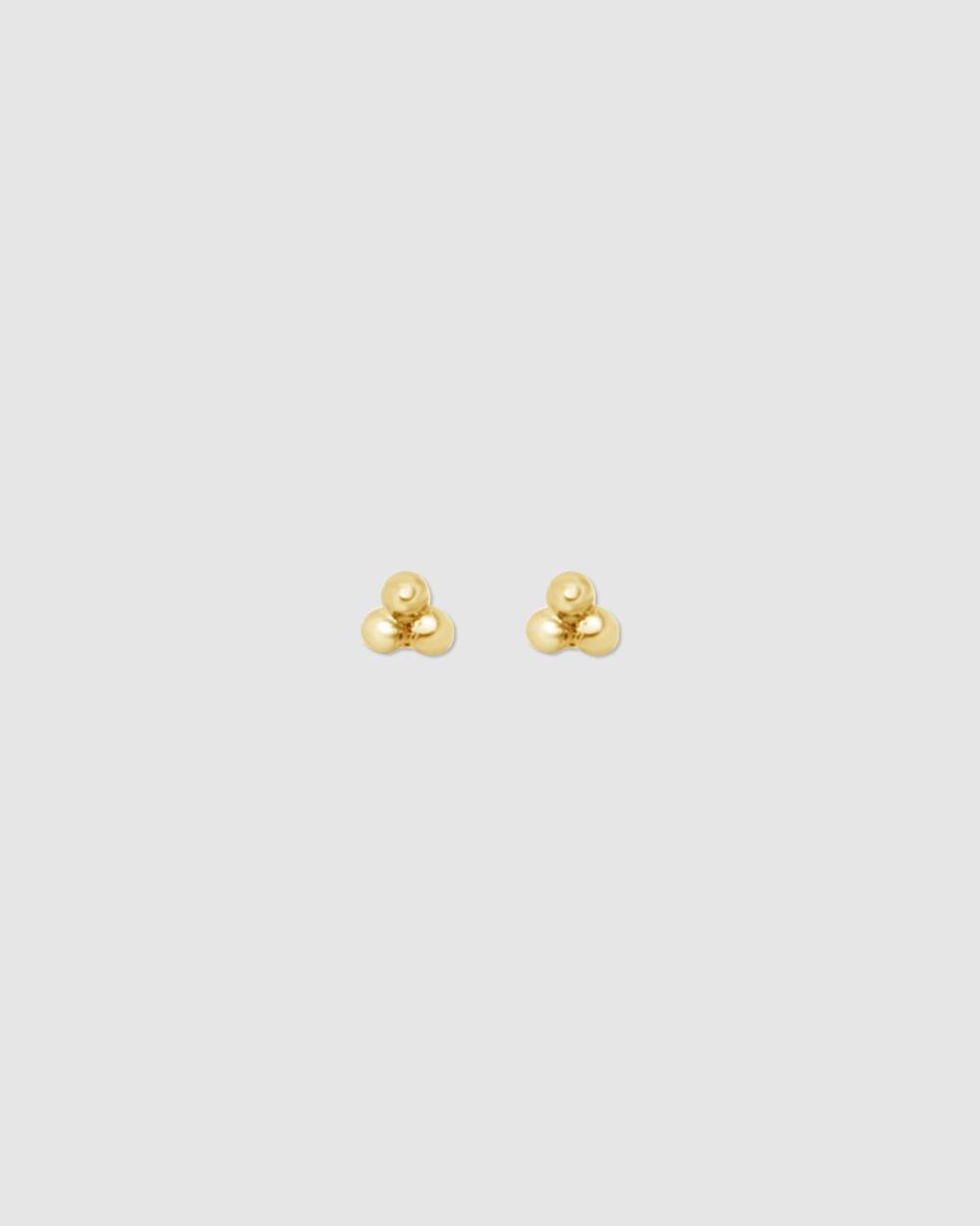 Ichu Mini Trio Studs Jewellery Gold